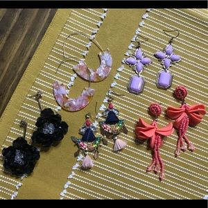 Lot of 6 Pair of Fashion Earrings